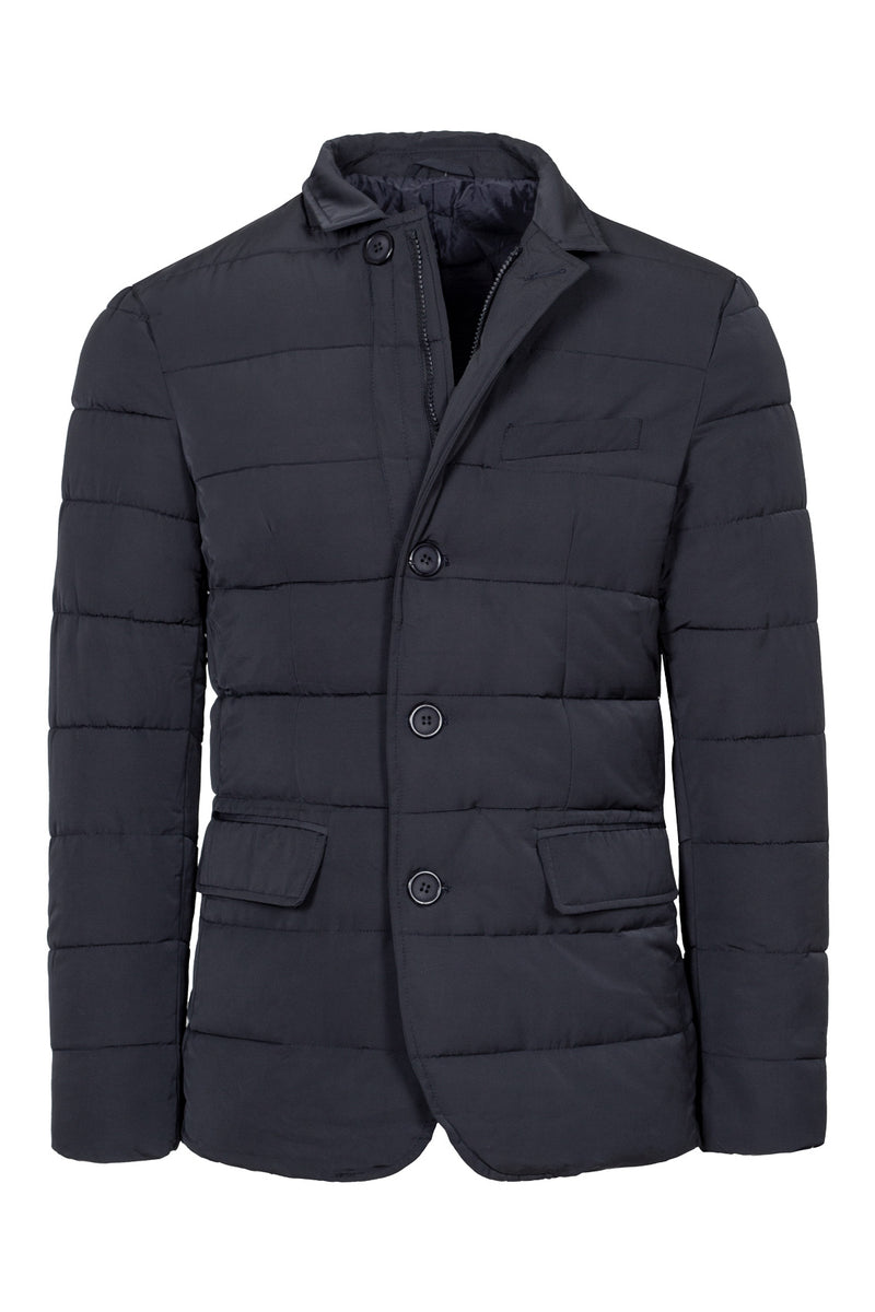 Navy Quilted Coat Jacket