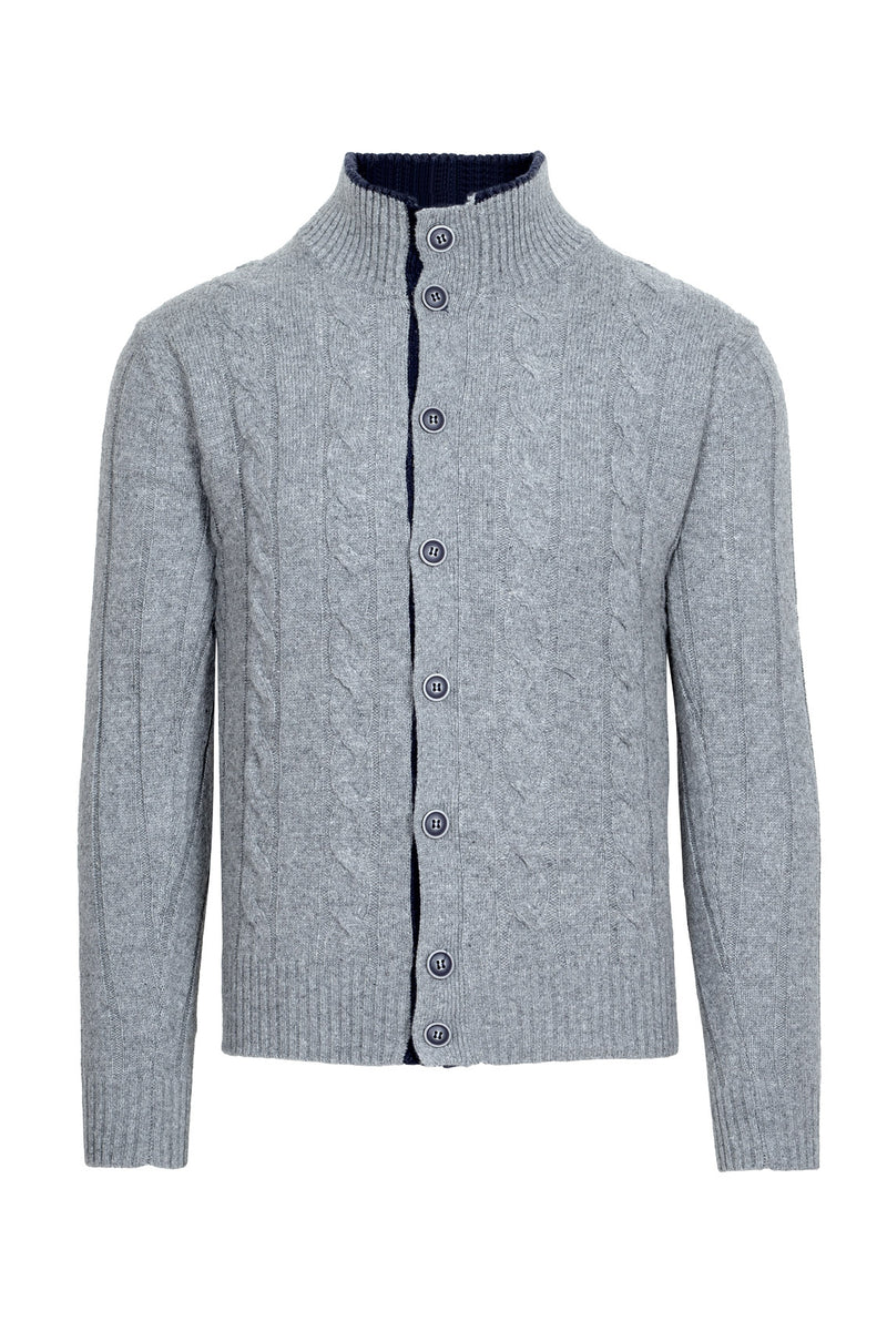 Cable-Knit Buttoned Cardigan