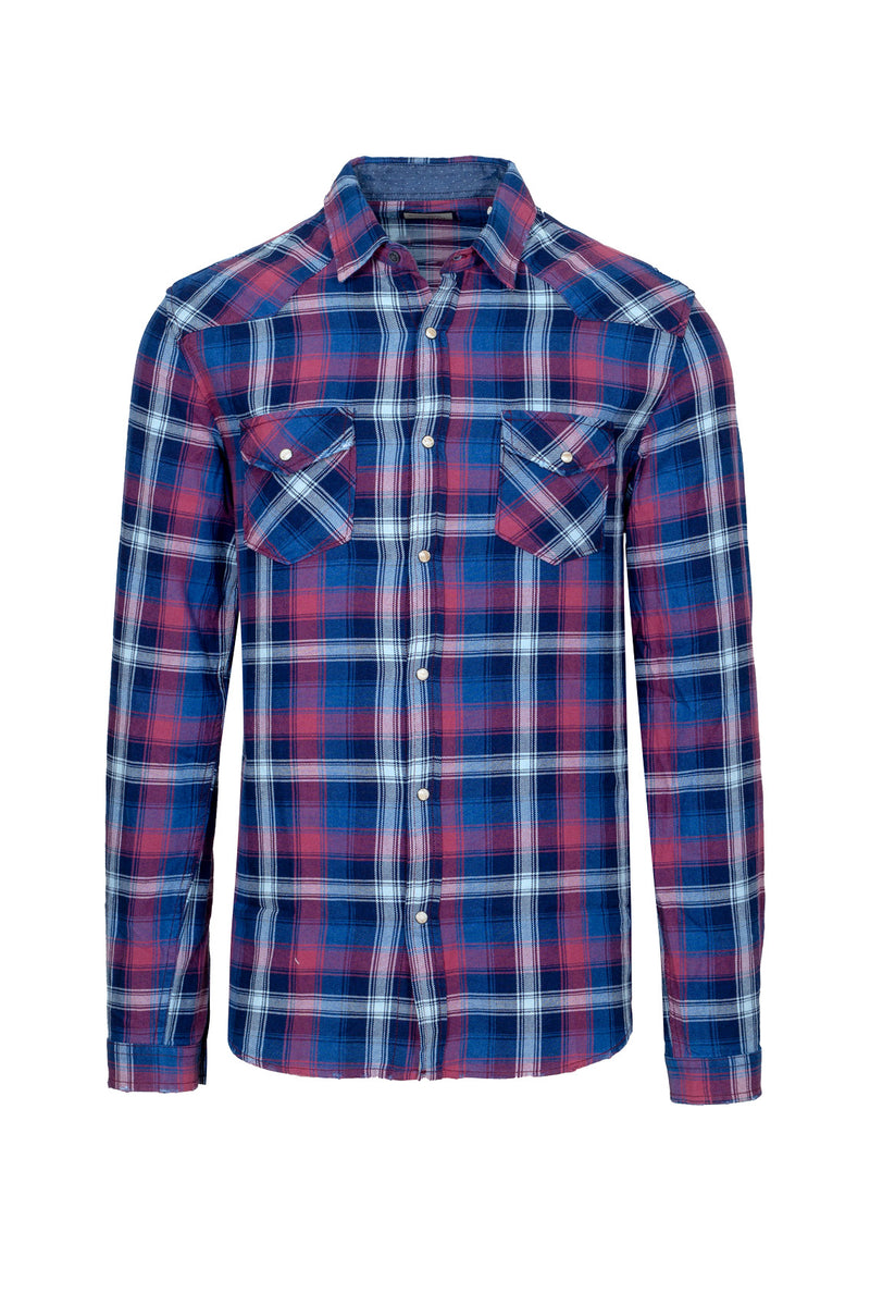 Check Pattern Flannel Shirt