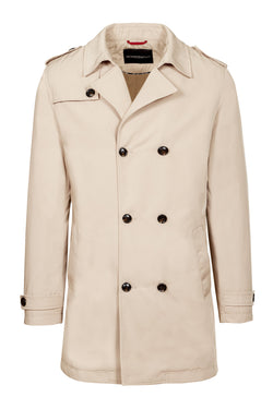 Camel Quilted Trench coat