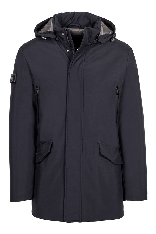 Hooded Navy Padded Parka