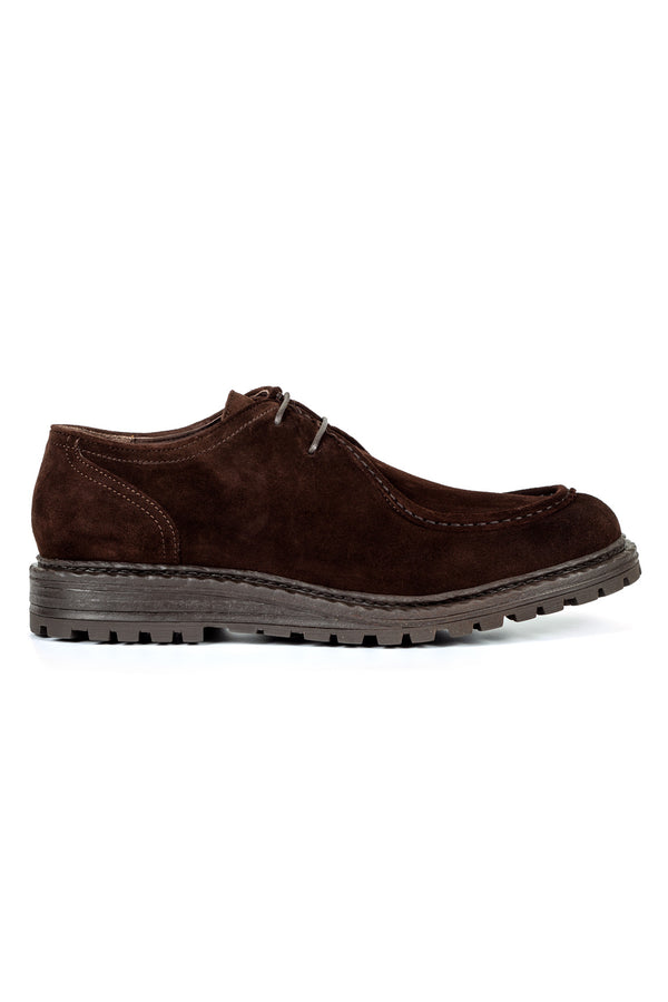 Brown Suede Derby