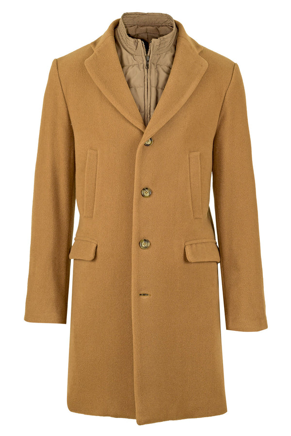 Wool & Cashmere Coat with Vest