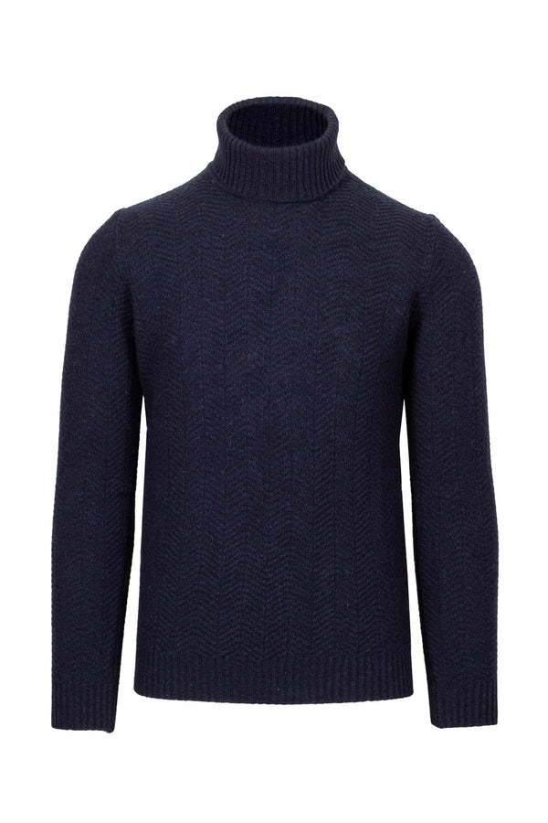 Herringbone Turtleneck