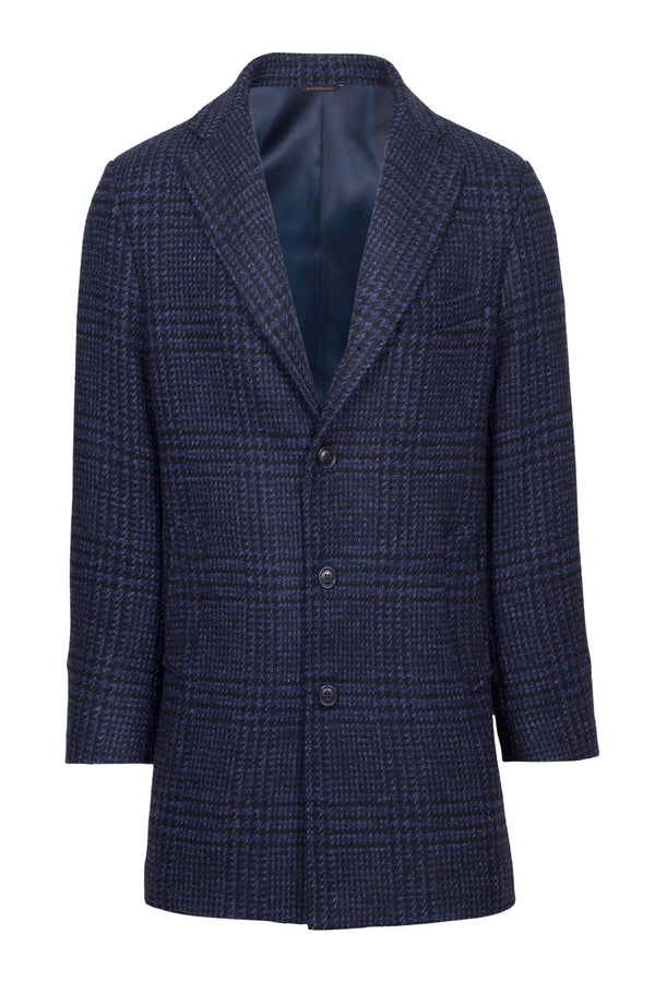 Prince-of-Wales Fancy Technofabric Coat