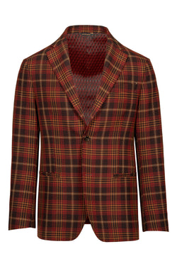 Madras Fancy Cotton Blend Jacket