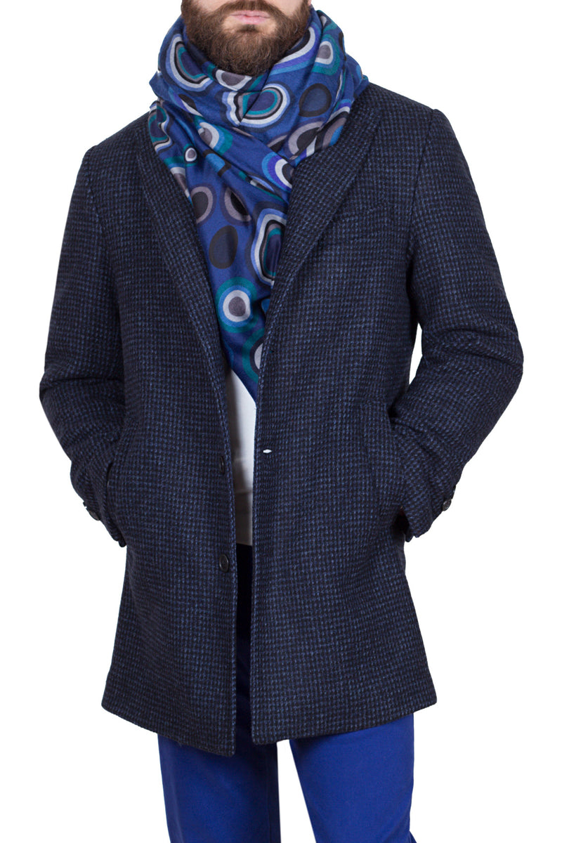 Micro Houndstooth Fancy Technofabric Coat