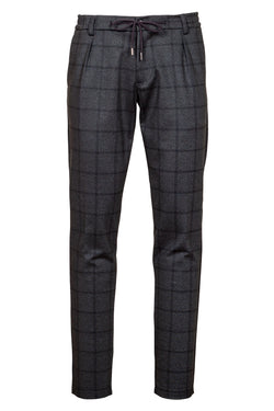 Drawstring Jersey Weave Printed Trousers
