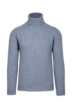 Melange Lambswool Blend Turtleneck