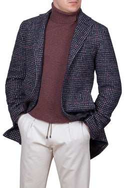 Madras Check Fancy Technofabric Coat