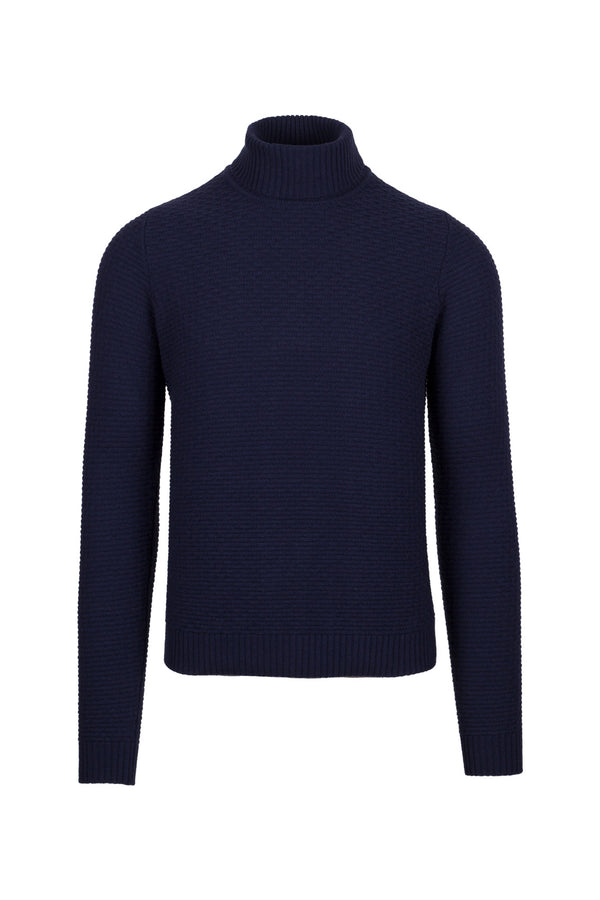 Wool & Cashmere Blend Turtleneck Sweater
