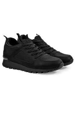 MONTEZEMOLO Men's Clothing - Sneakers - Total-Black Sneakers - www.montezemolostore.com