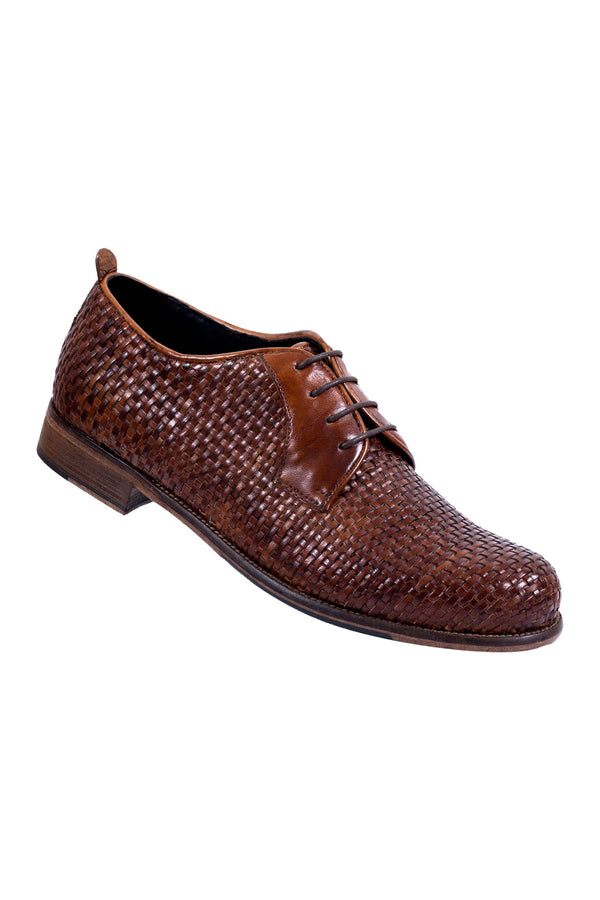MONTEZEMOLO - Lace Up Shoes - Intrecciato Leather Derby - MONTEZEMOLO