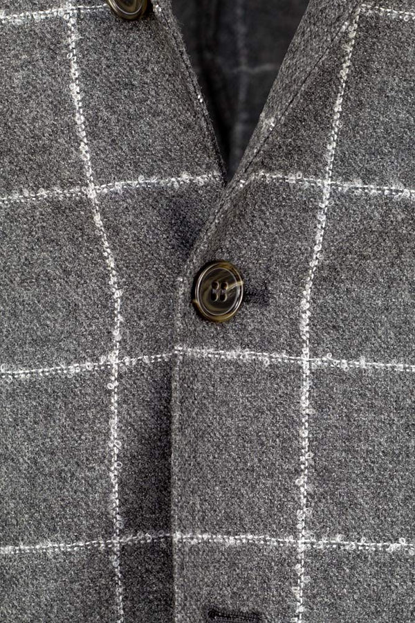 Check Wool & Cashmere Jacket