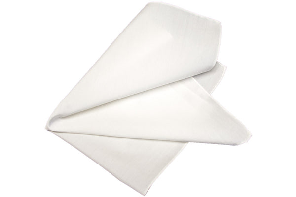 MONTEZEMOLO Men's Clothing - Pocket Squares - White Pocket Square - www.montezemolostore.com
