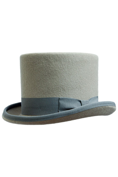 Grey Felt Top Hat , Hats - Black tie, MONTEZEMOLO