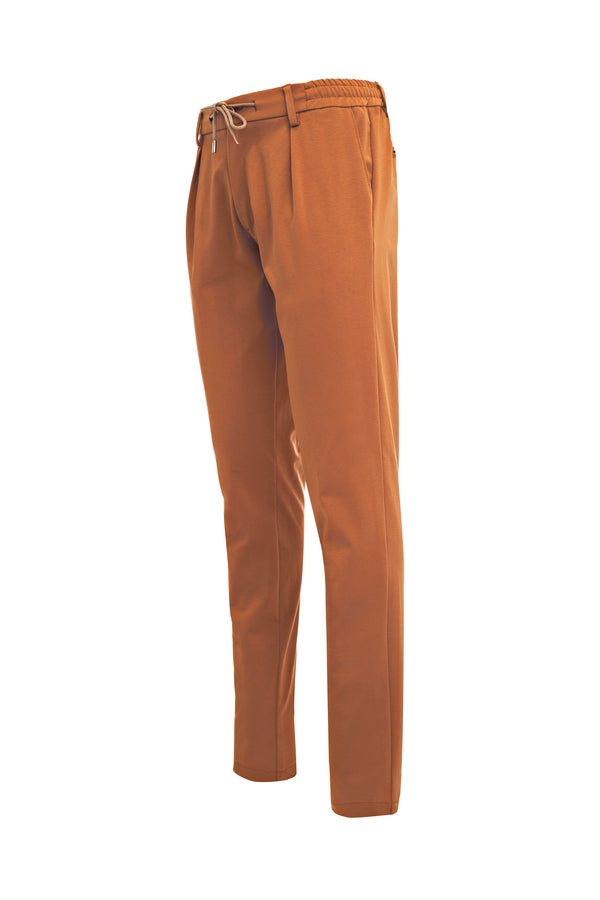 Drawstring Jersey Weave Trousers