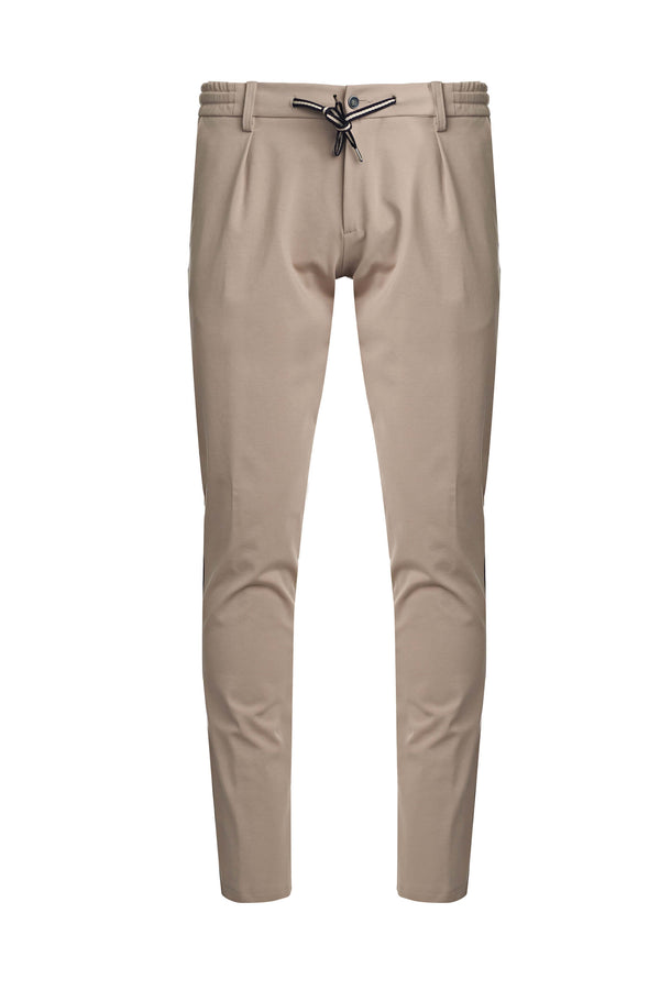 Drawstring Trousers With Side Band