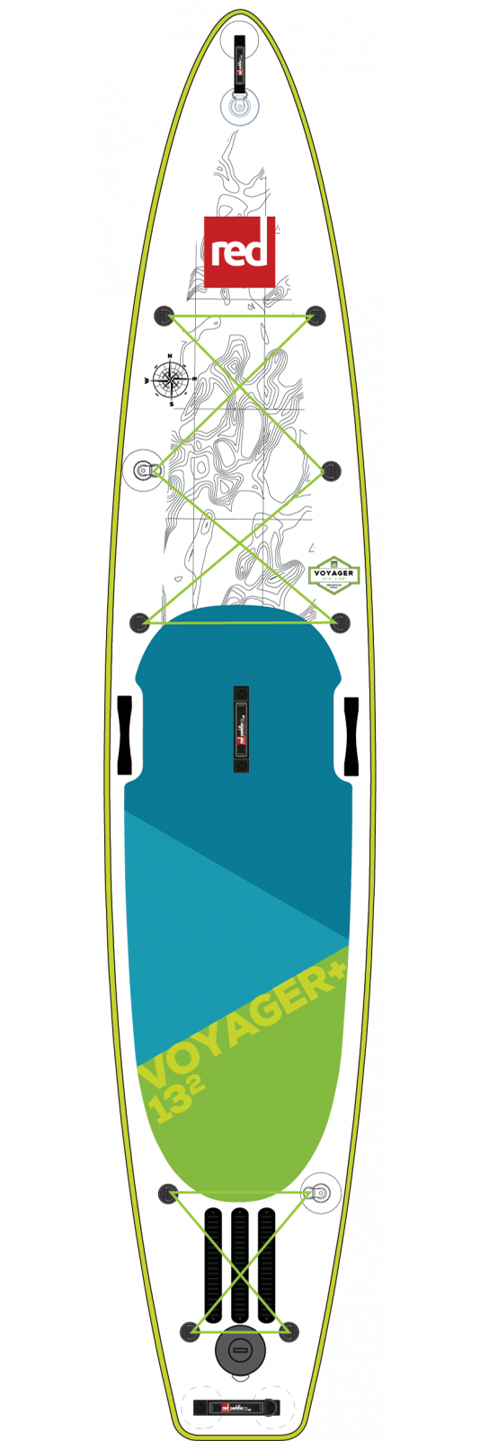 "Red Paddle Co / 2019 13'2"" Voyager+ MSL Inflatable SUP"