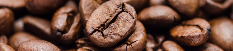Close up of roasted espresso beans