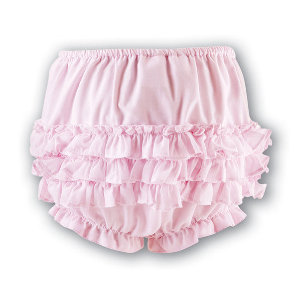 Sarah Louise - Pale pink frilly pants 003760