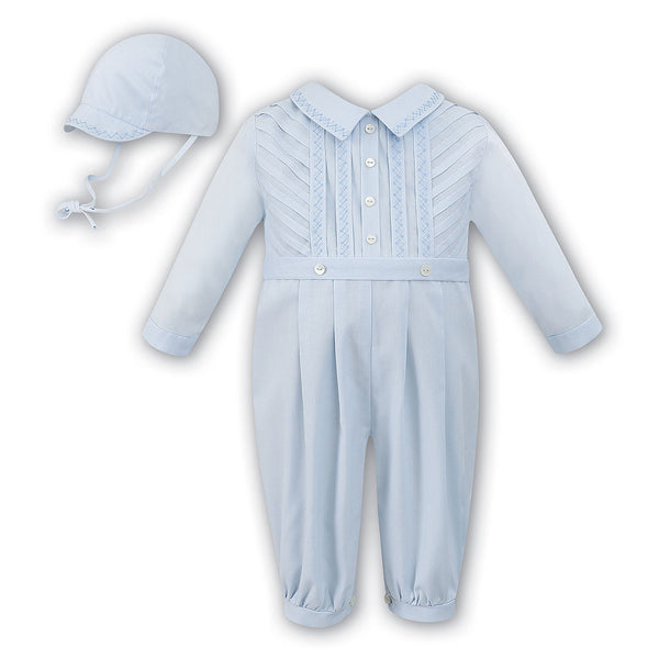 Sarah Louise - Baby romper and cap, Baby Blue, 18 months 010446