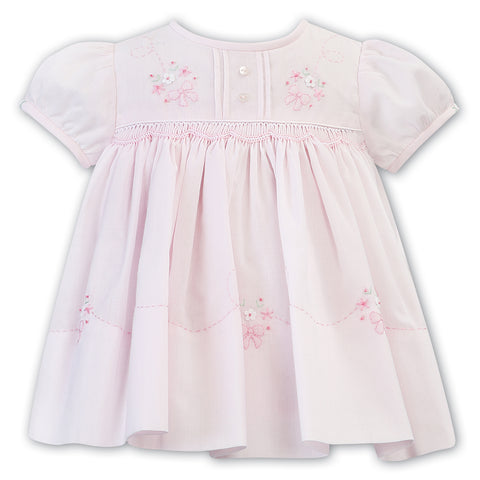 Sarah Louise - Hand smocked dress pink 011823-1