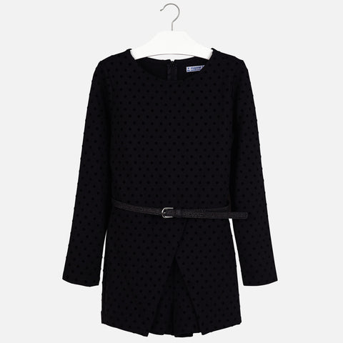 Mayoral - Polka dot playsuit, Black, 7801