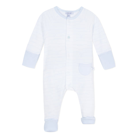 Absorba - white / blue romper, 9N32011