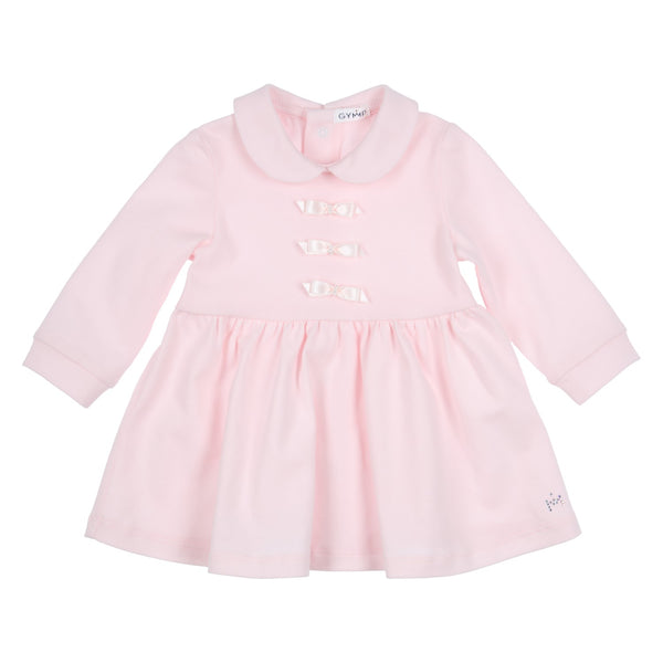 GYMP - soft pink dress with bow detail