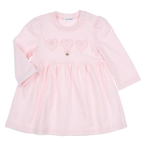 GYMP - soft pink dress with heart detail