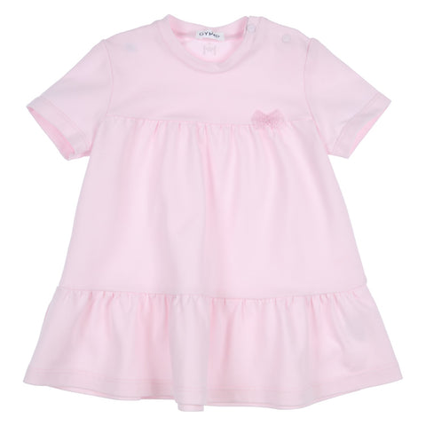 GYMP - Pink jersey short sleeved dress