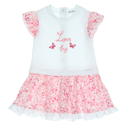 GYMP - Pink and white butterfly dress 'Love Bug'