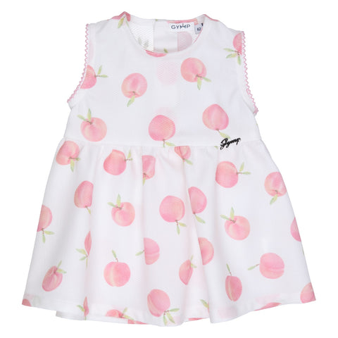GYMP - White dress with peaches print