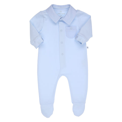 GYMP - Baby boys Pale blue all in one, romper
