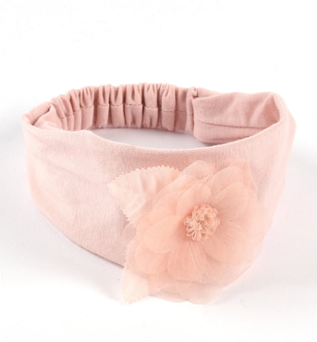 iDO - headband, peachy pink with flower detail, J950 /71