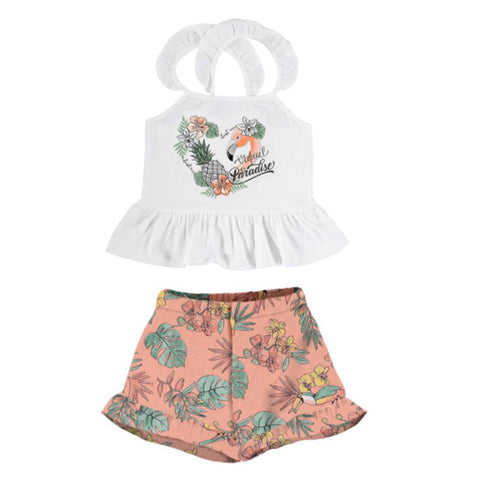 Mayoral - 2 piece shorts set,  peach, 6279