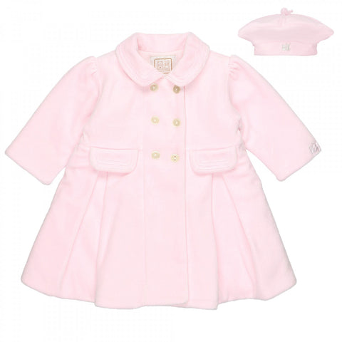 Emile et Rose - pink coat and hat Rosanna