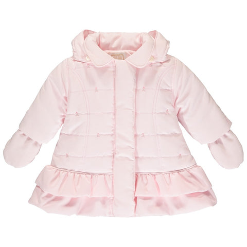 Emile et Rose - Pale pink jacket with mitts, Trisha