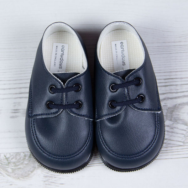 Early Days - Baby boys first walker shoes, navy  H020