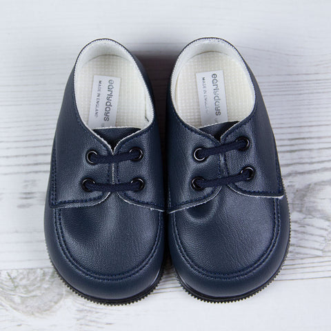 Early Days - First walker shoes, navy  H020