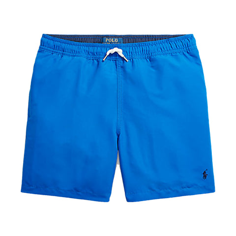 Ralph Lauren boys swim shorts, Make beach days and pool trips even more fun with these lined swim trunks, which are finished with our signature embroidered Pony.  Colour - Royal blue  Swim shorts   Machine washable 30*