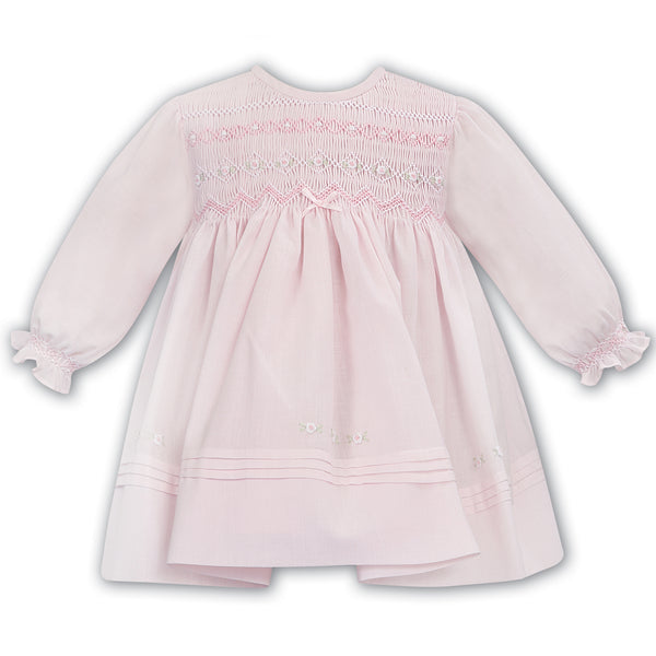 Sarah Louise - Hand smocked dress, pink,  012035