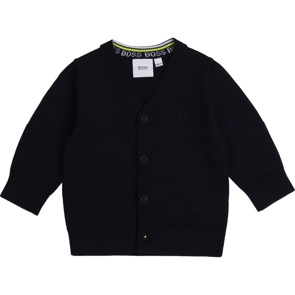 "Boss - Cardigan J05818 navy<BR> <span style=""color:#FF0000"">SALE"
