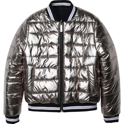 "Boss - Gold reversible jacket J16146/M15<BR> <span style=""color:#FF0000"">SALE"