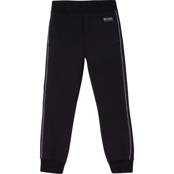"Boss - Black jogging bottoms J24661/09B<BR> <span style=""color:#FF0000"">SALE"