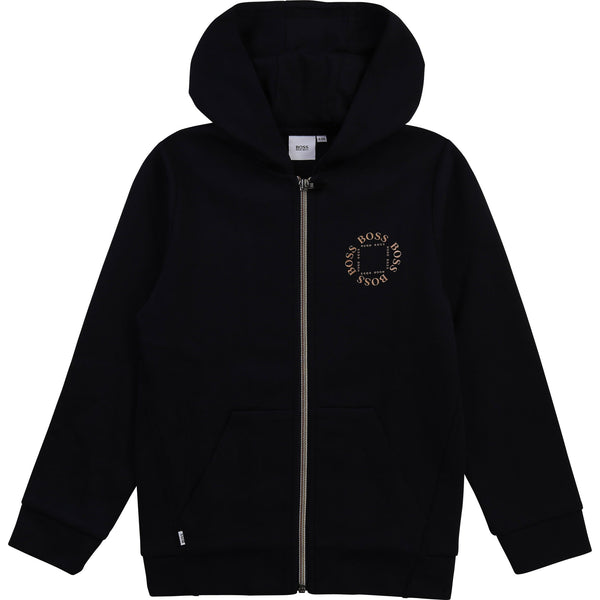 Boss - Tripple Gold Collection, Navy Zipper hoodie jacket  J25L46
