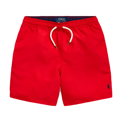 Ralph Lauren boys red shorts REF: 32278552002  Colour - red  swim shorts  back pocket  elasticated waist  Machine washable 30*