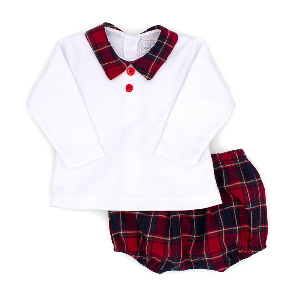 "Rapife - Red tartan 2 piece set  5414<BR> <span style=""color:#FF0000"">SALE"