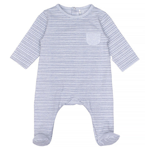 Laranjinha - Blue stripe romper / all in one